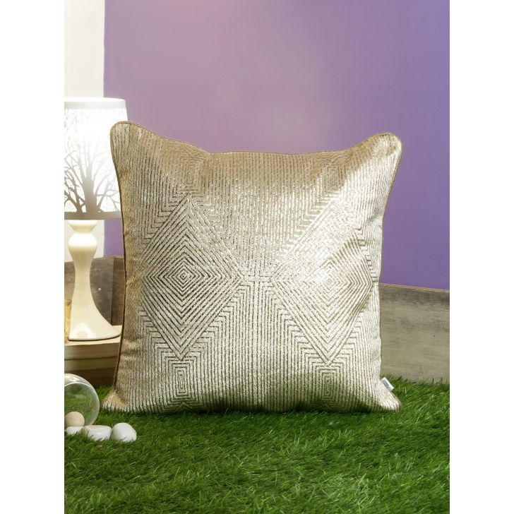 Diamond Cushion Covers in Toupe Colour by Living Essence