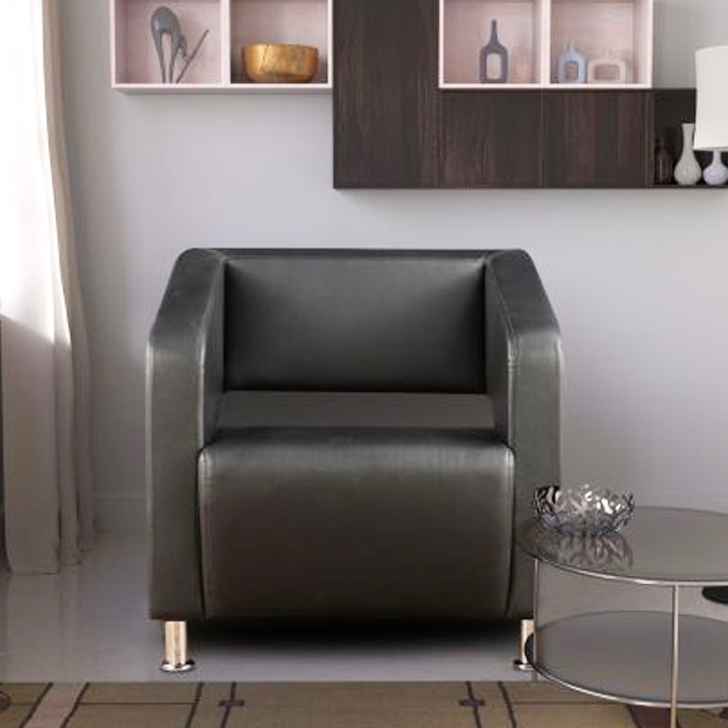 Arrow PVC Office Chair in Black Colour by HomeTown