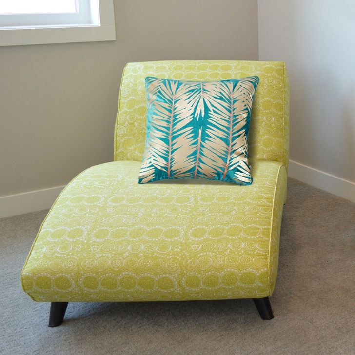 Palmero Cotton Cushion Covers in Citron Colour by Living Essence
