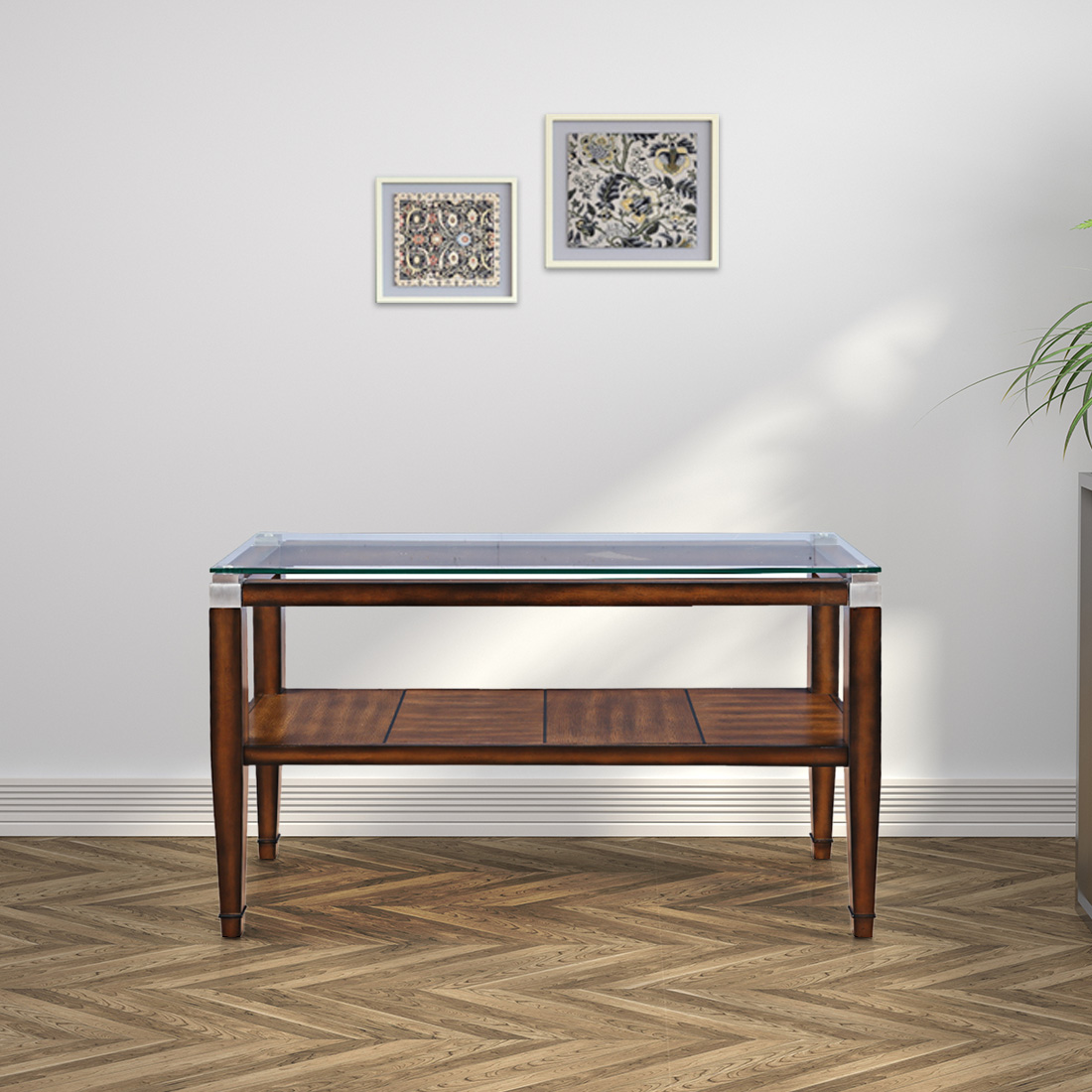 Franklin Solid Wood Console Table in Brown Colour by HomeTown