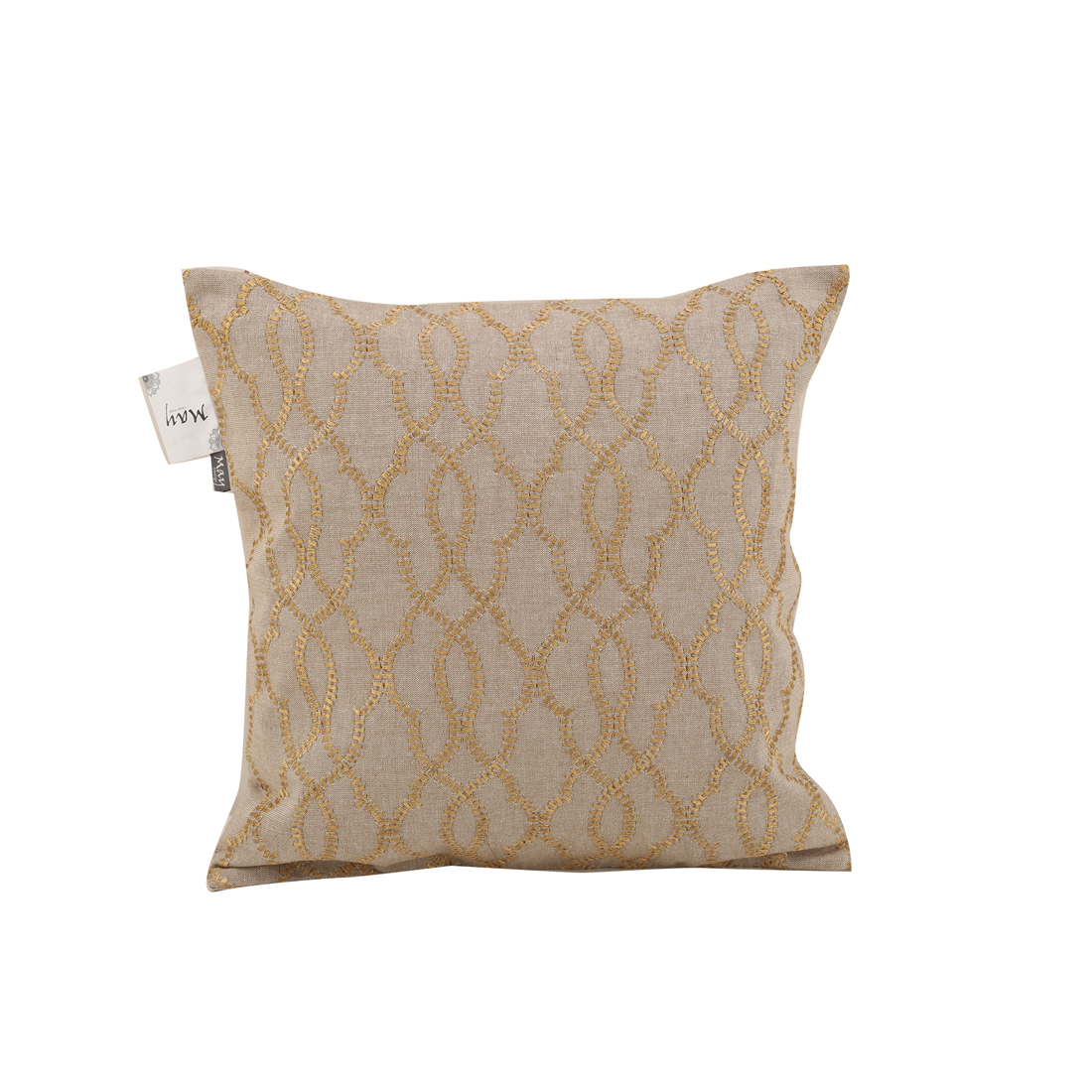 Elan Beige Gold Cotton Cushion Covers in Beige Gold Colour by Living Essence