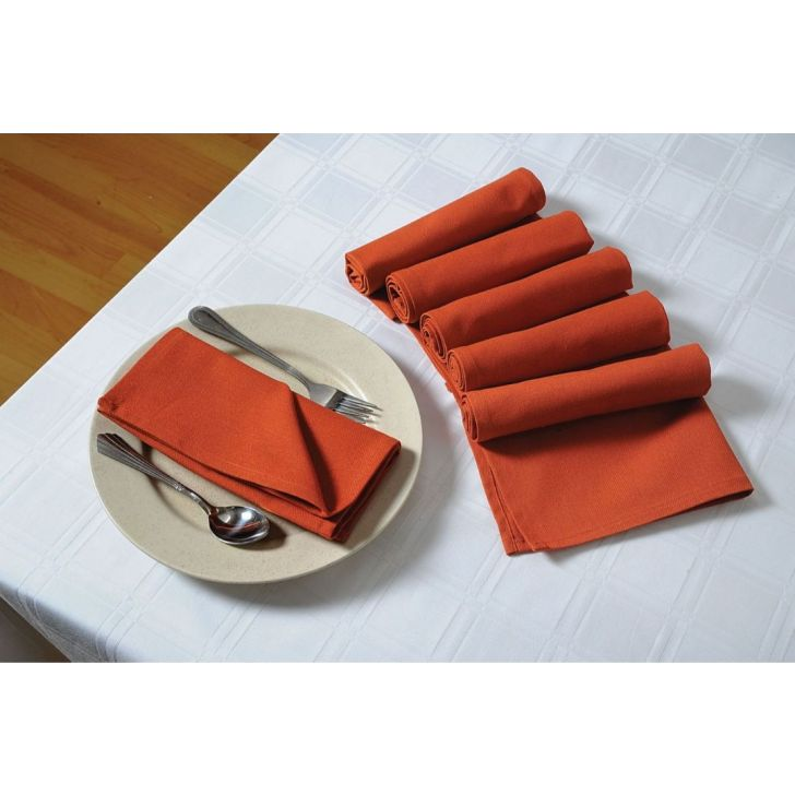 Solid Table Napkin In Rust Color By Swayam