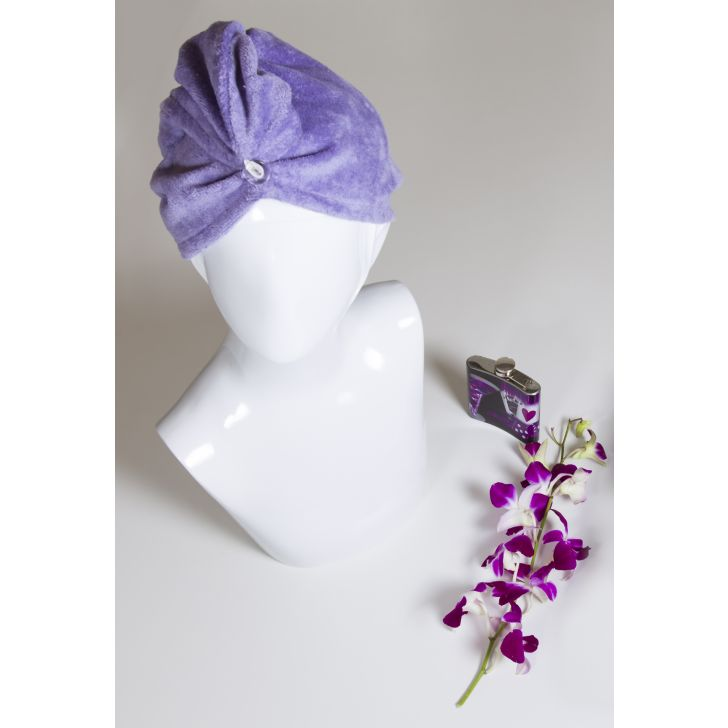 Spaces Turbie - Enrobe Lavander Cotton Head Towel