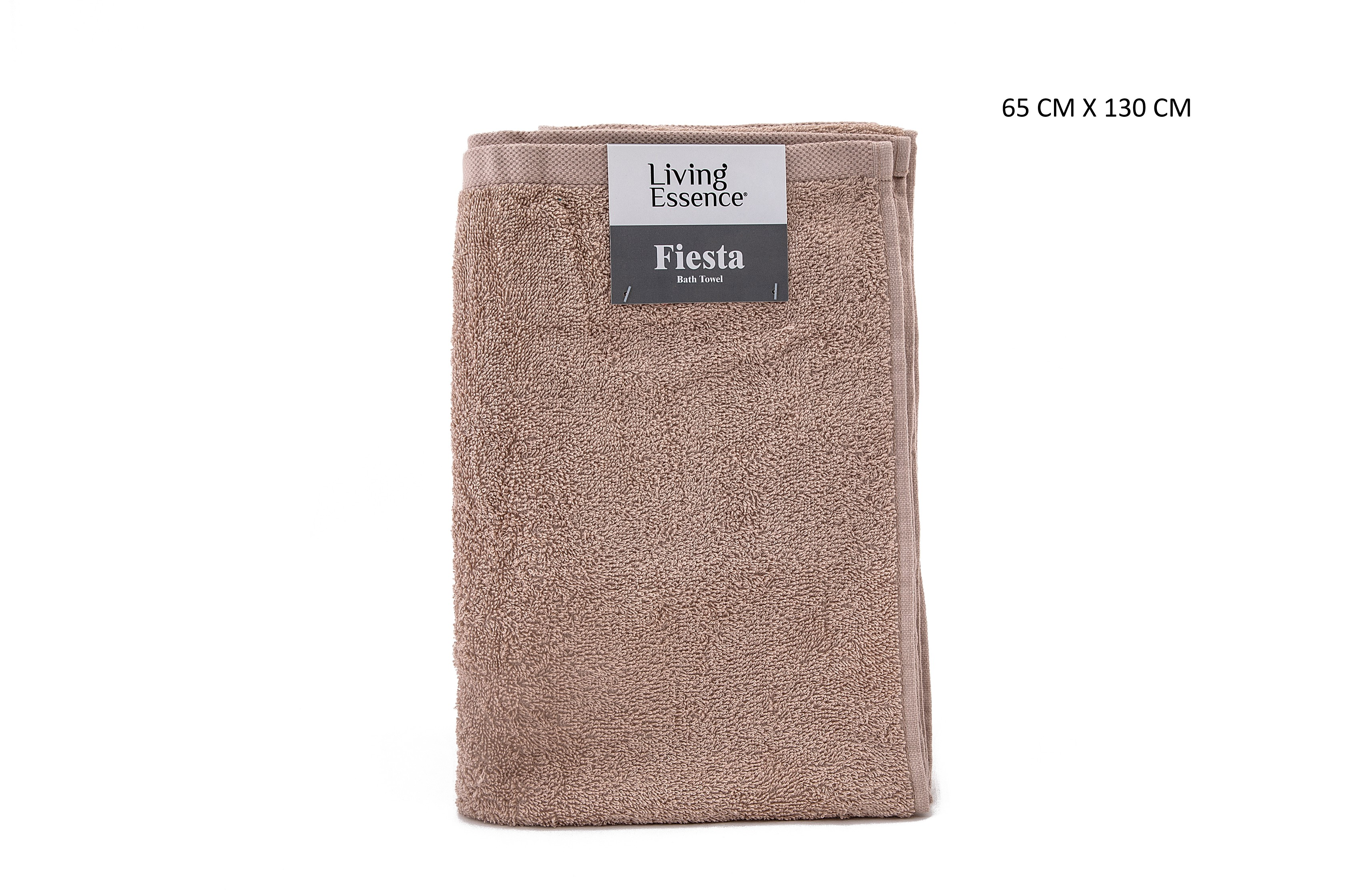 Fiesta Bath Terry Towel Cotton Bath Towels in Beige Colour by HomeTown