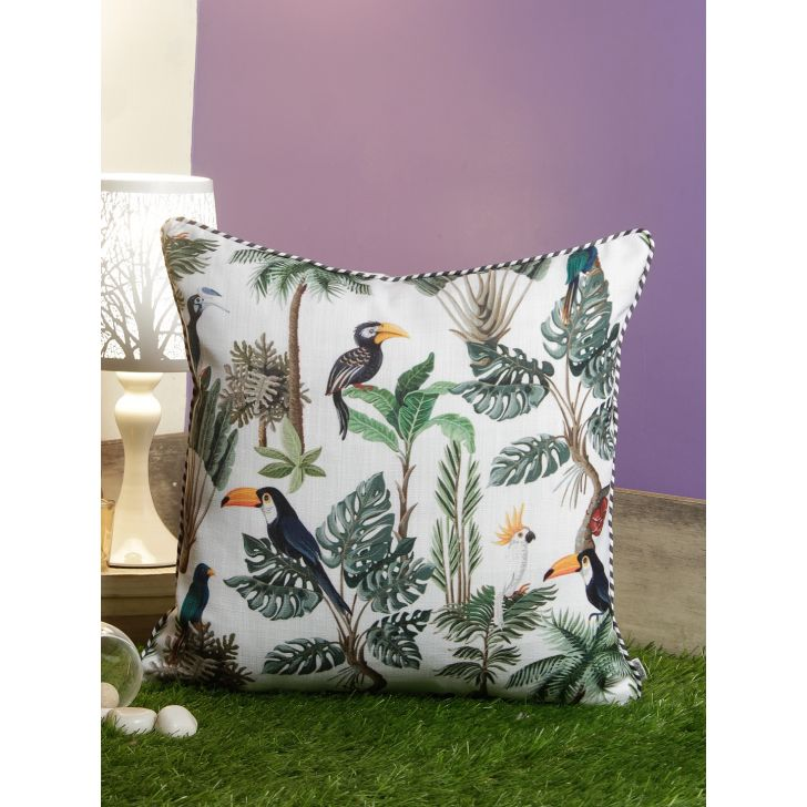 Digi Pelican Polyester Cushion Covers in Multi Colour by Living Essence