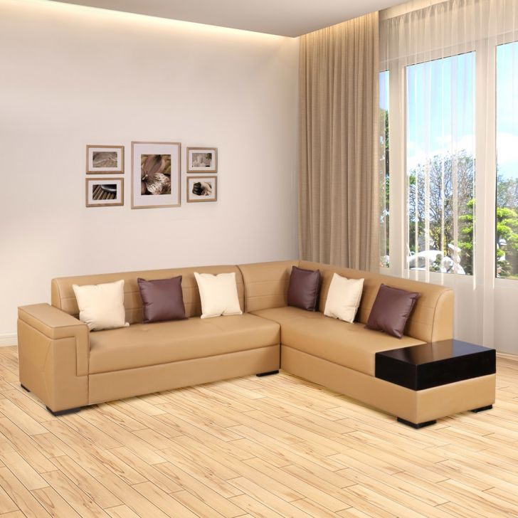 Hamburg Leatherette Lounger in Brown Colour by HomeTown