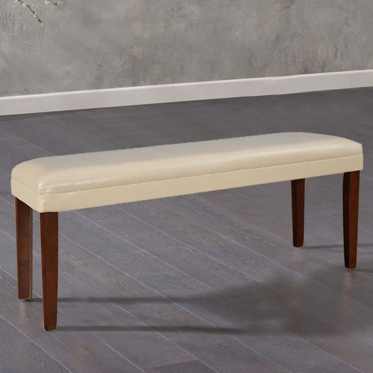 Bliss Solidwood Dining Bench for 6 Seater in Beige Colour