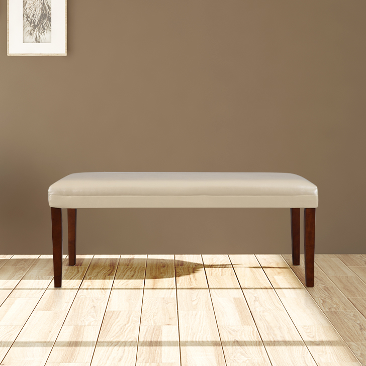 Bliss Solid Wood Dining Bench in Brown Colour by HomeTown