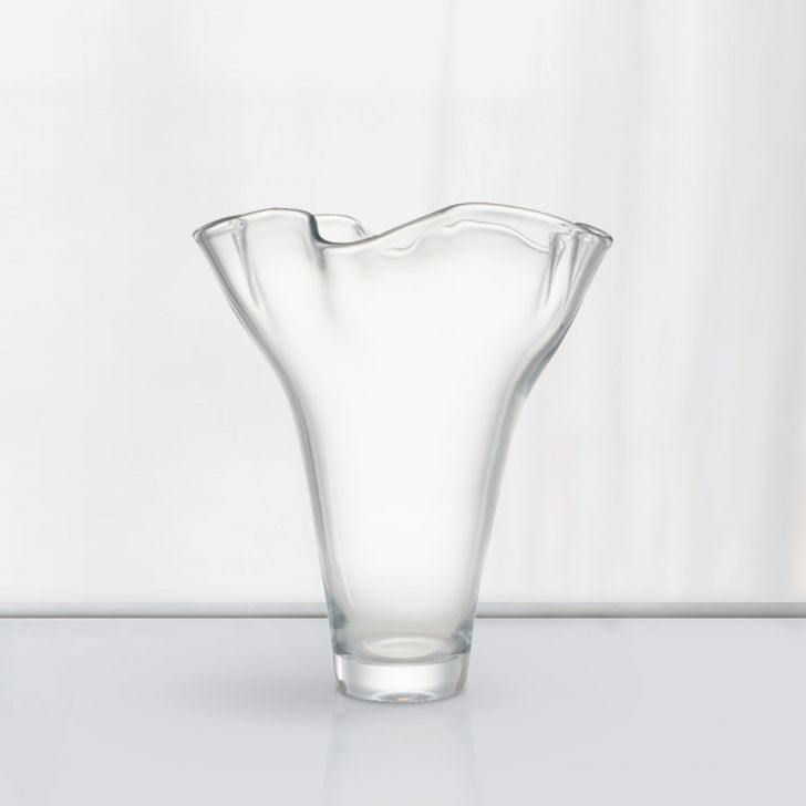 Nile Clear Glass Vase 31 Cm Glass Vases in CLEAR Colour by Living Essence