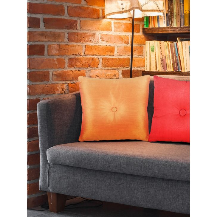 Fiesta Polyester Filled Cushions in Mustard Colour by Living Essence