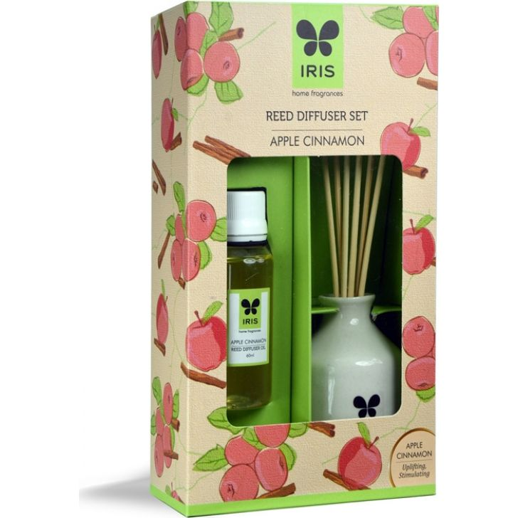 Iris Ceramic Fragrances and Candles in APPLE CINNAMON Colour by HomeTown
