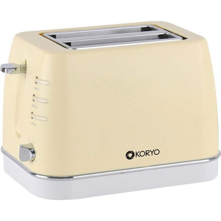 2 Slice Pop-Up Toaster (750 W) - Yellow by Koryo