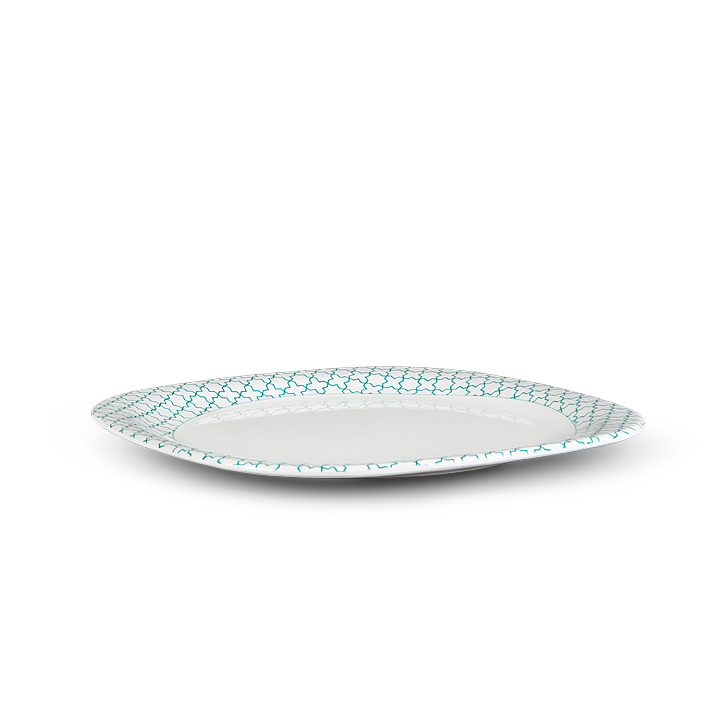 Living Essence Plates in White And Green Colour by Living Essence
