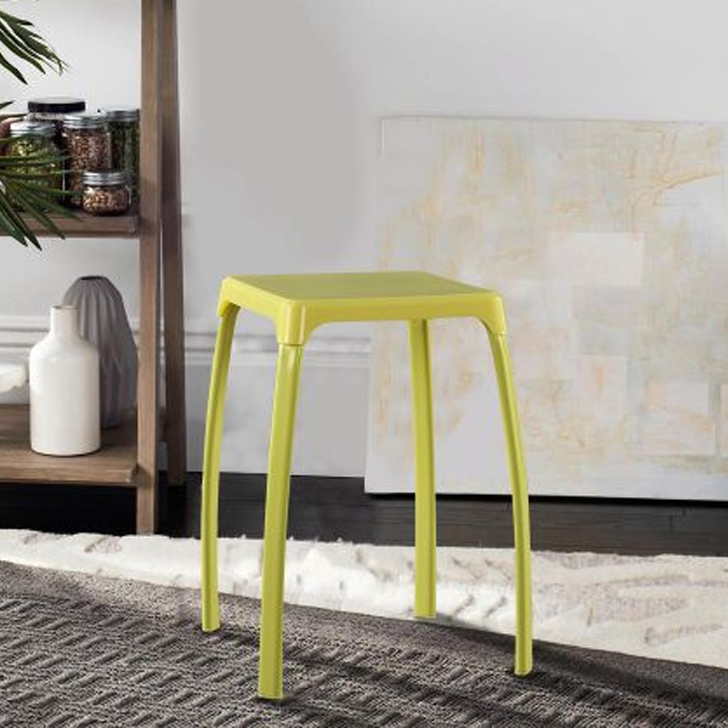 Aldo Pp Plastic Bar Chair and Stool in Citron Colour by HomeTown