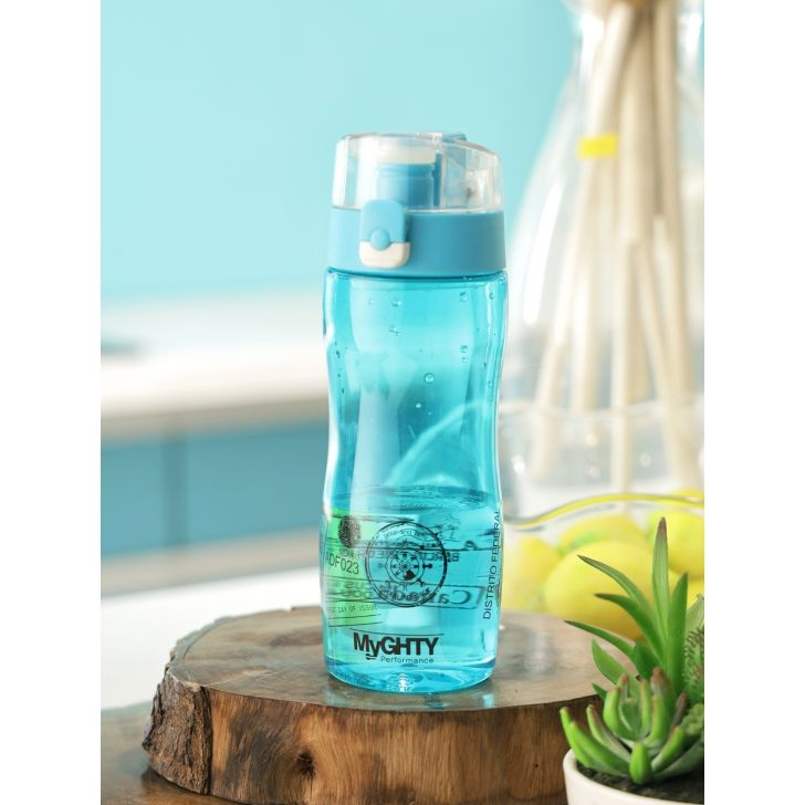 Mighty Plastic Water Bottle 480Ml Single Pc in Multi Colour by Living Essence