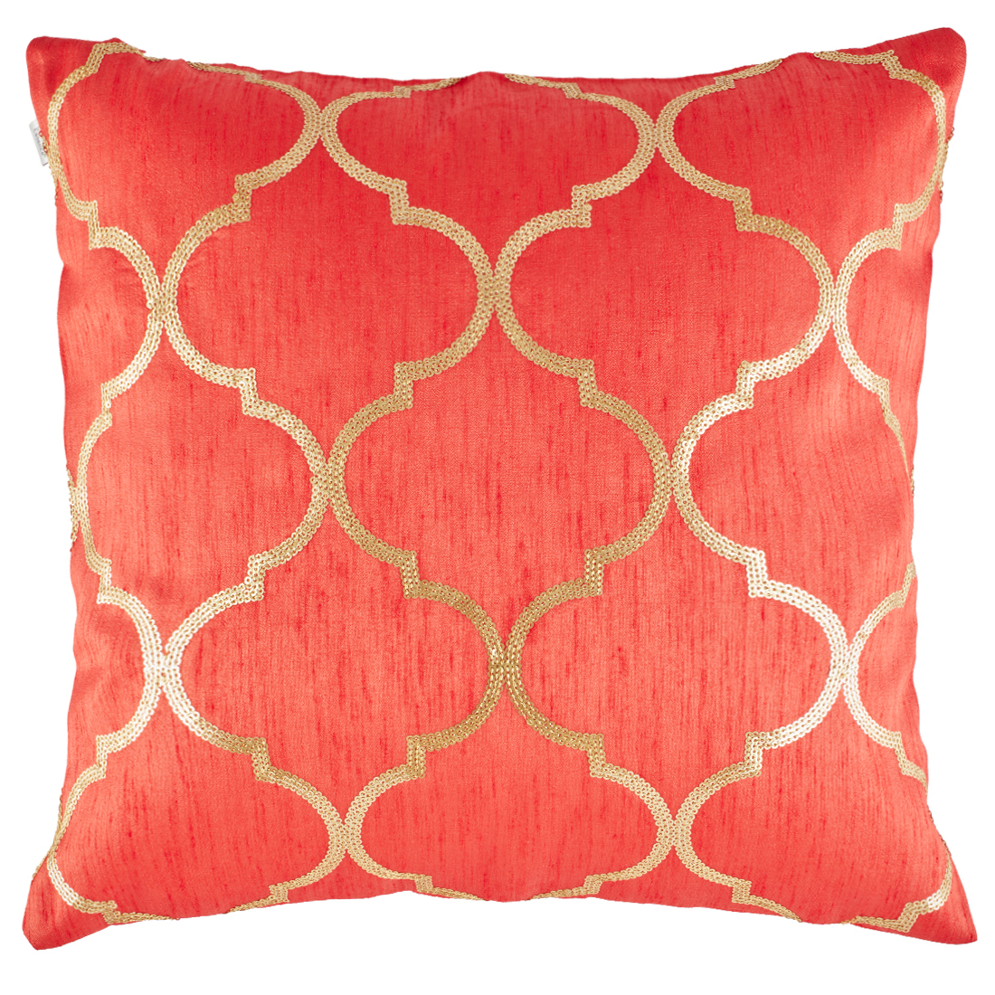 Classique Polyester Cushion Covers in Red Colour by Living Essence