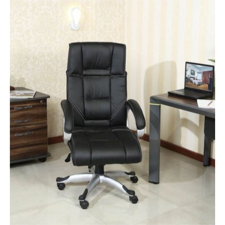 Grayson Leatherette Office Chair in Black Colour