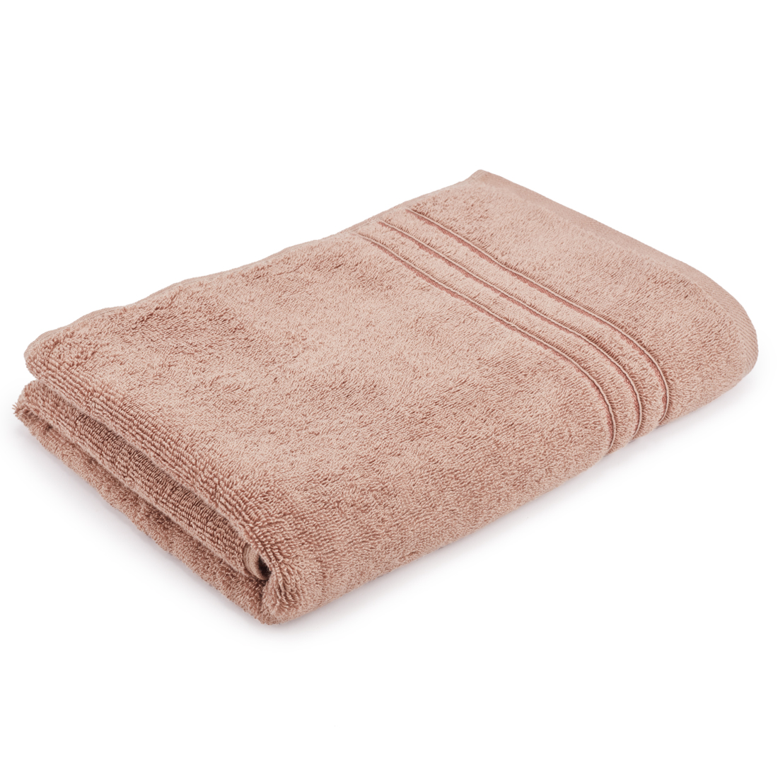 Bath Towel 70X140 Nora Mocha Combed Cotton Bath Towels in Mocha Colour by Living Essence