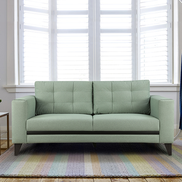 Garcia Fabric Three Seater sofa in Olive Colour by HomeTown