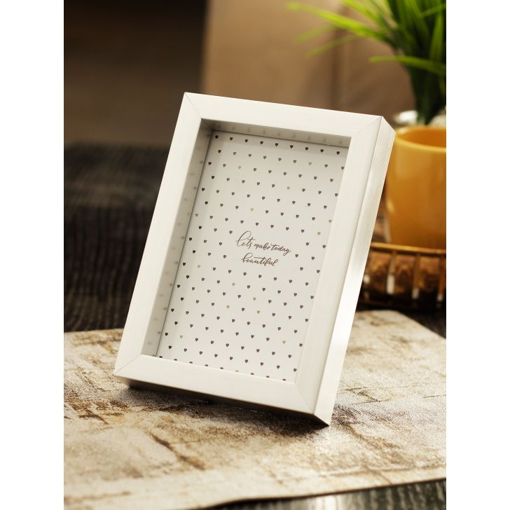 Vista Plastic Photo Frame in Silver Colour by HomeTown