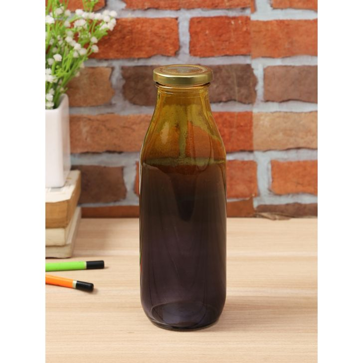 Living Essence Glass Juice Bottle in Multi Colour by Living Essence