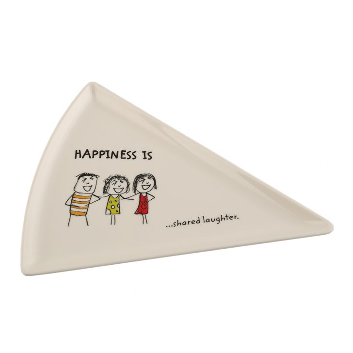 HAPPINESS PIZZA PLATE - Mod Food Grade Melamine Plates in Multicolor Colour by Living Essence