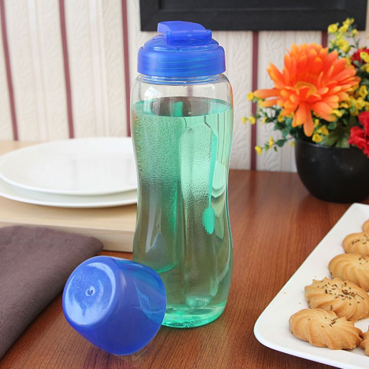 Clear & Blue Sports Polycarbonate Bottles in Transparent Colour by Lock & Lock