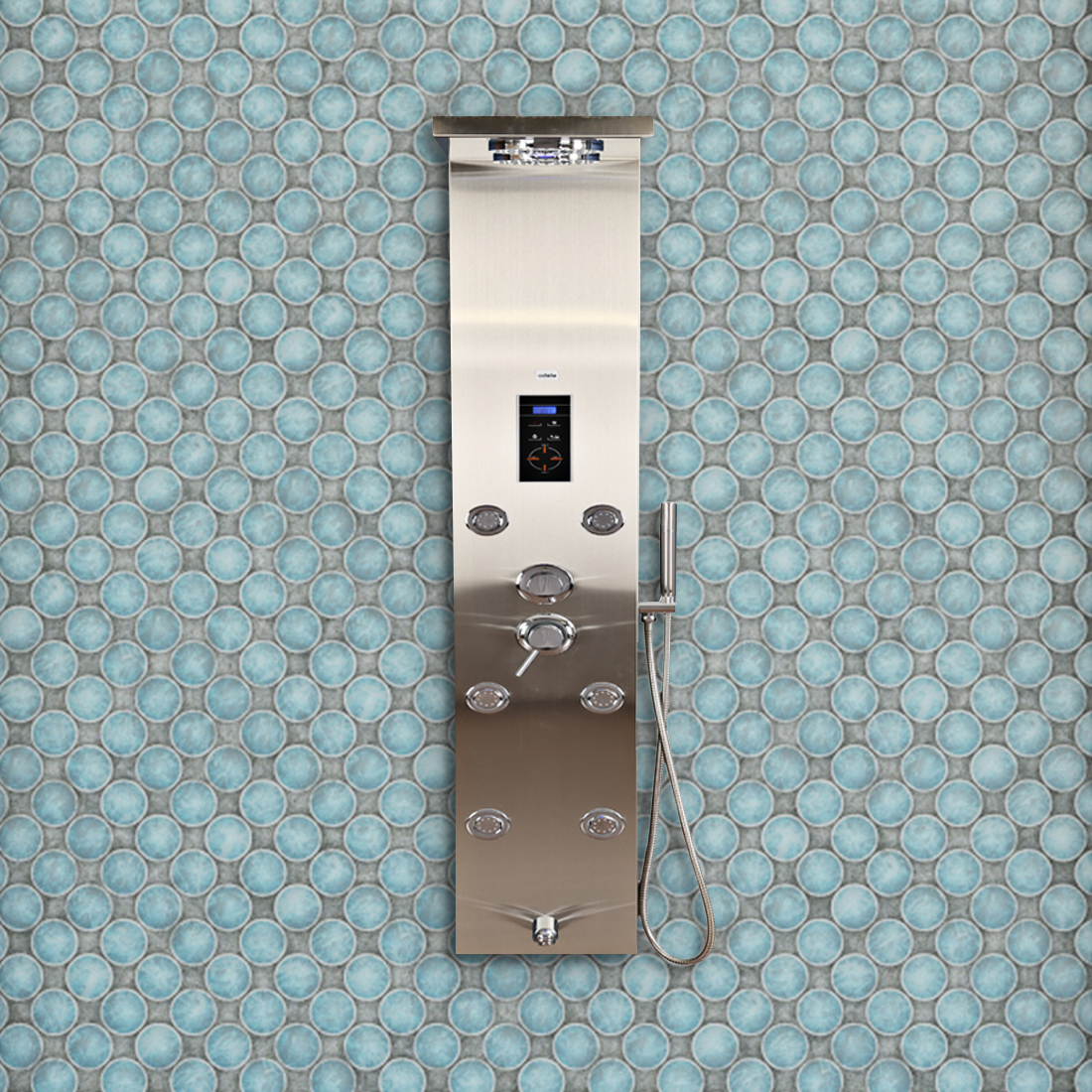 Platinum Stainless steel Shower Multifunctions in Steel Colour by HomeTown