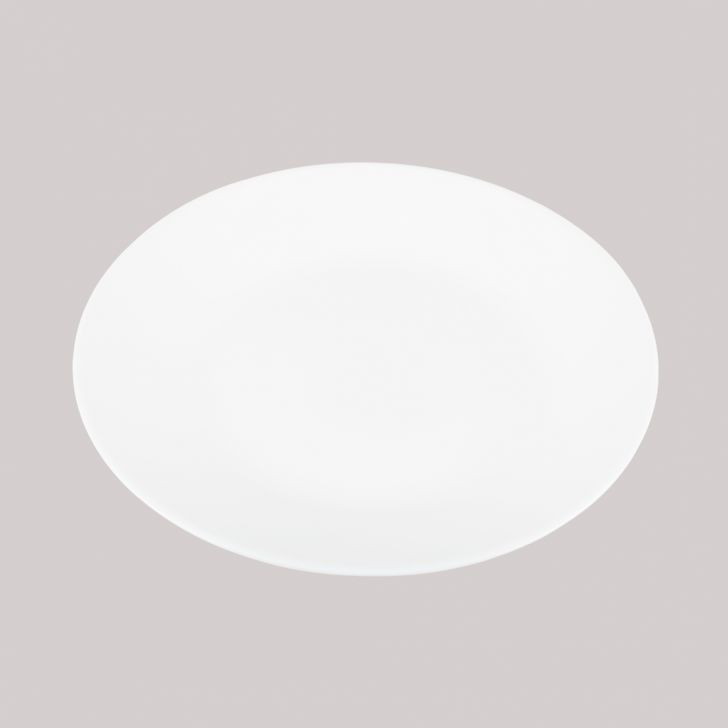 Ivory Quarter Plate Plain Glass Plates in White Colour by Diva