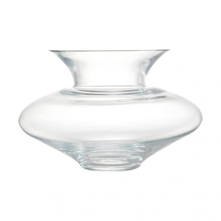 Nile Modern Round Glass Vase 18 Glass Vases in CLEAR Colour by Living Essence