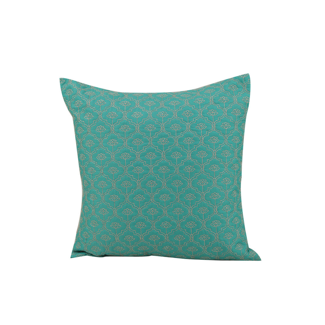 Ogee Polyester Cushion Covers in Teal Colour by Living Essence
