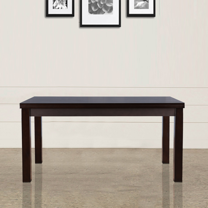 Bahubali Rubber Wood Six Seater Dining Table in Walnut Colour by HomeTown