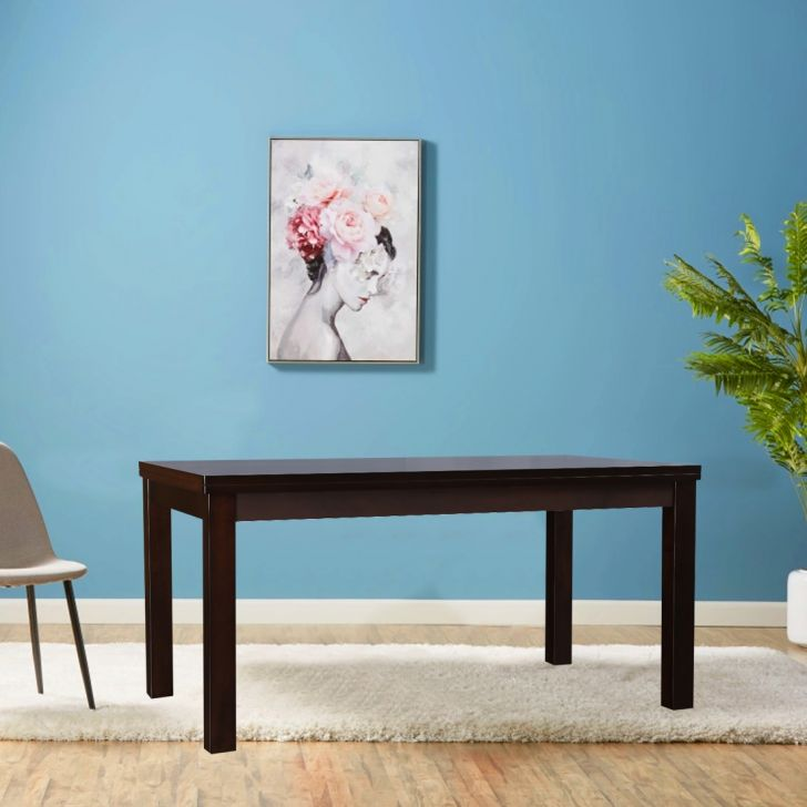 Bahubali Solidwood 6 Seater Dining Table in Walnut Colour