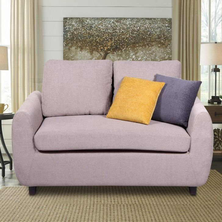 Wind Solid Wood Two Seater Sofa in Grey Colour by HomeTown