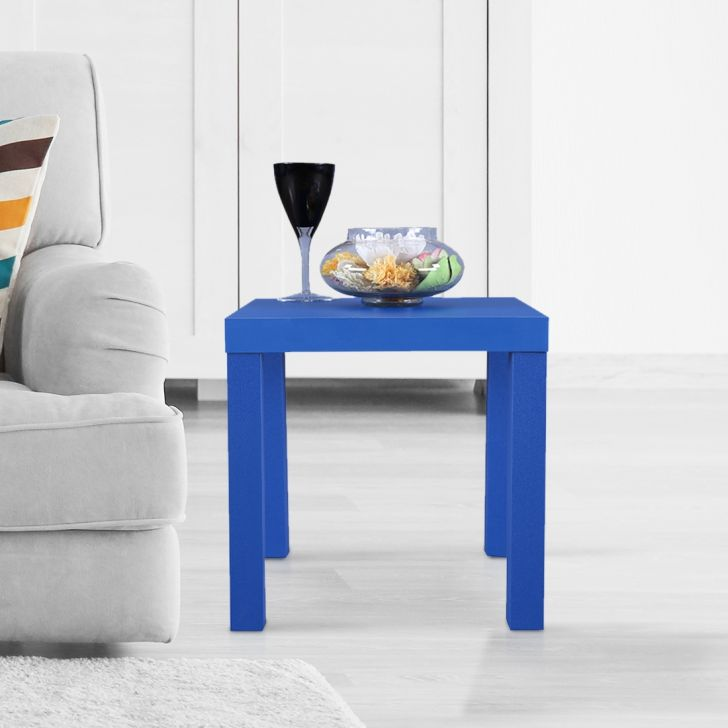 Larix Engineered Wood Side Table in White Colour by HomeTown
