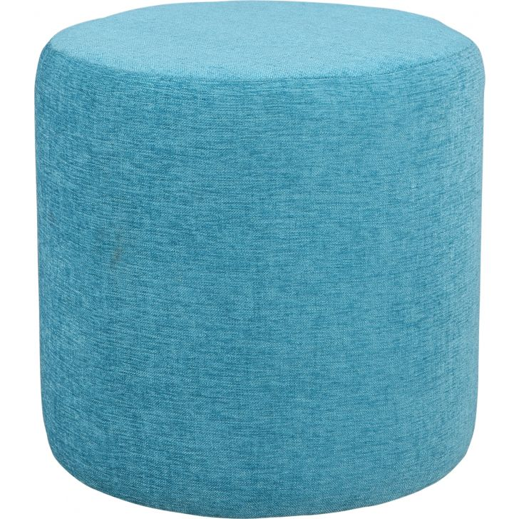 Living Essence Fabric Ottoman in Teal Colour
