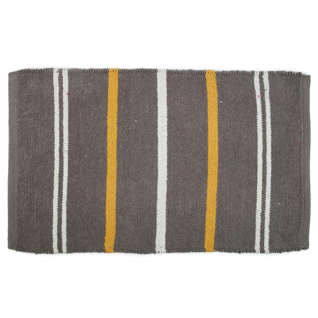 Emilia Dhurrie Grey Chenille Bath Mats in Grey Colour by Living Essence