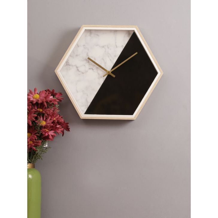 Spectre Marble Clock in Multi Color Colour by Living Essence