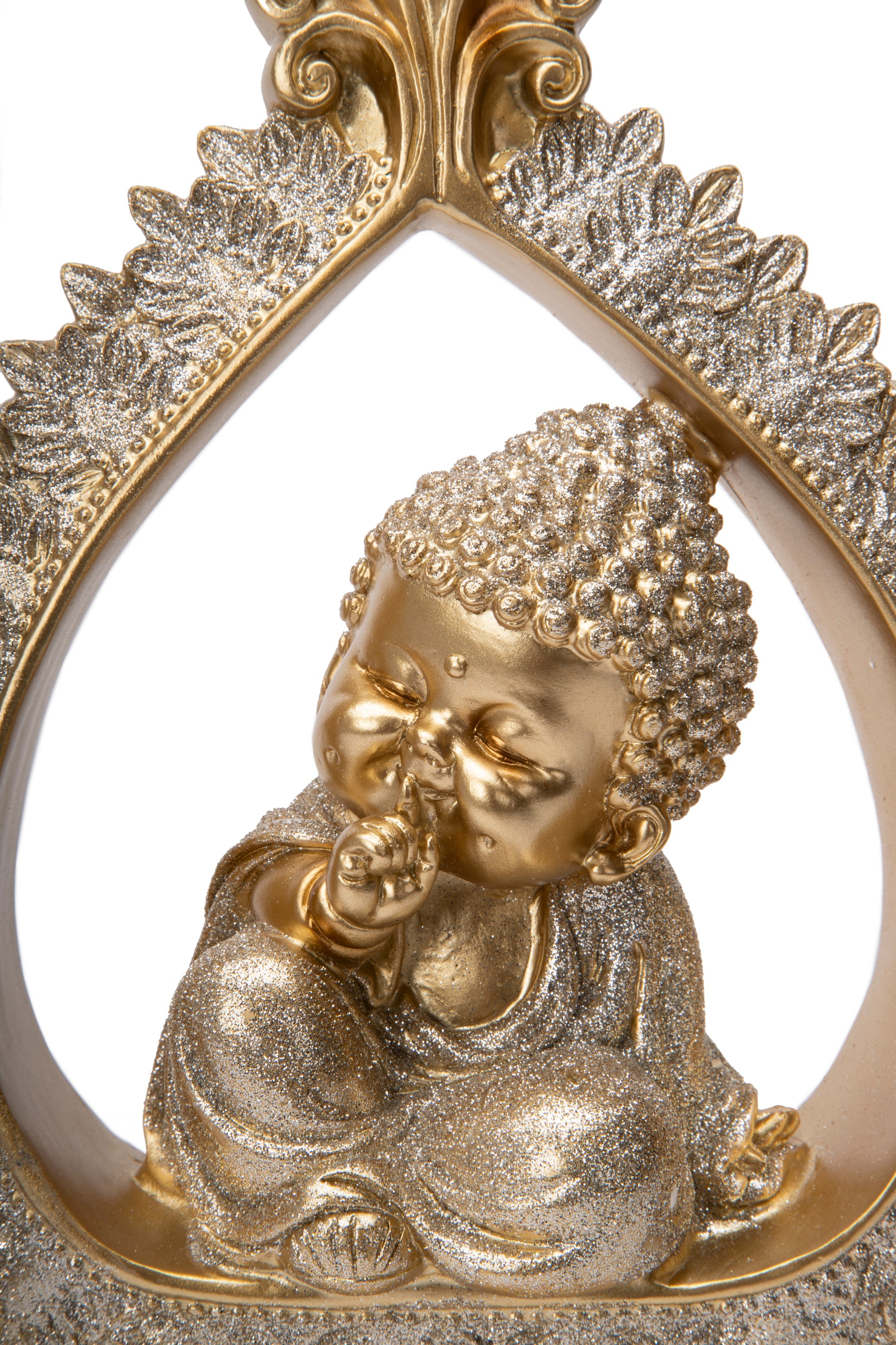 FIO QUIET MONK IN PEACE FLAME GOLD Figurines in Gold Colour by Living Essence