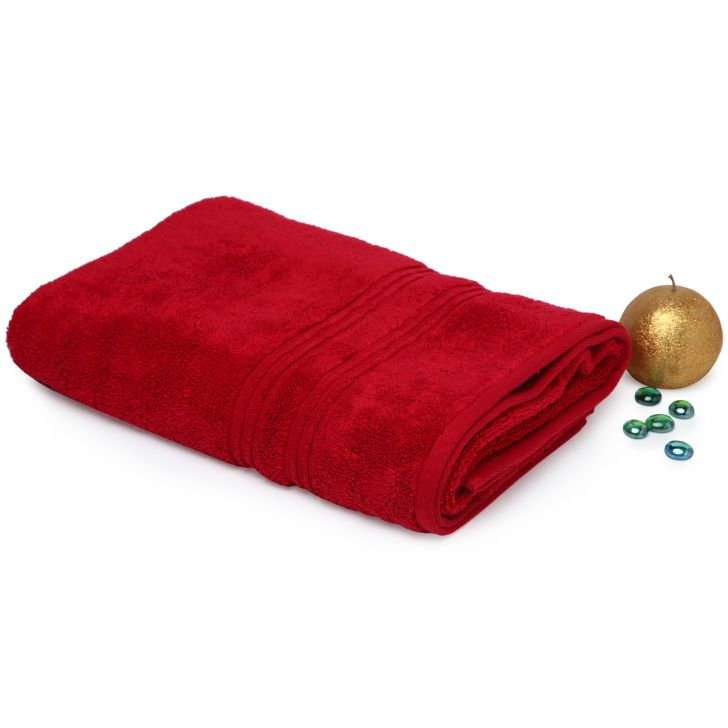 Spaces Swift Dry Red Cotton Bath Towel