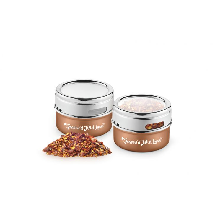 Bonita Spizy Stainless Steel Salt & Pepper Shaker Set Of 2 Stainless steel Salt & Pepper in Copper Colour by Bonita