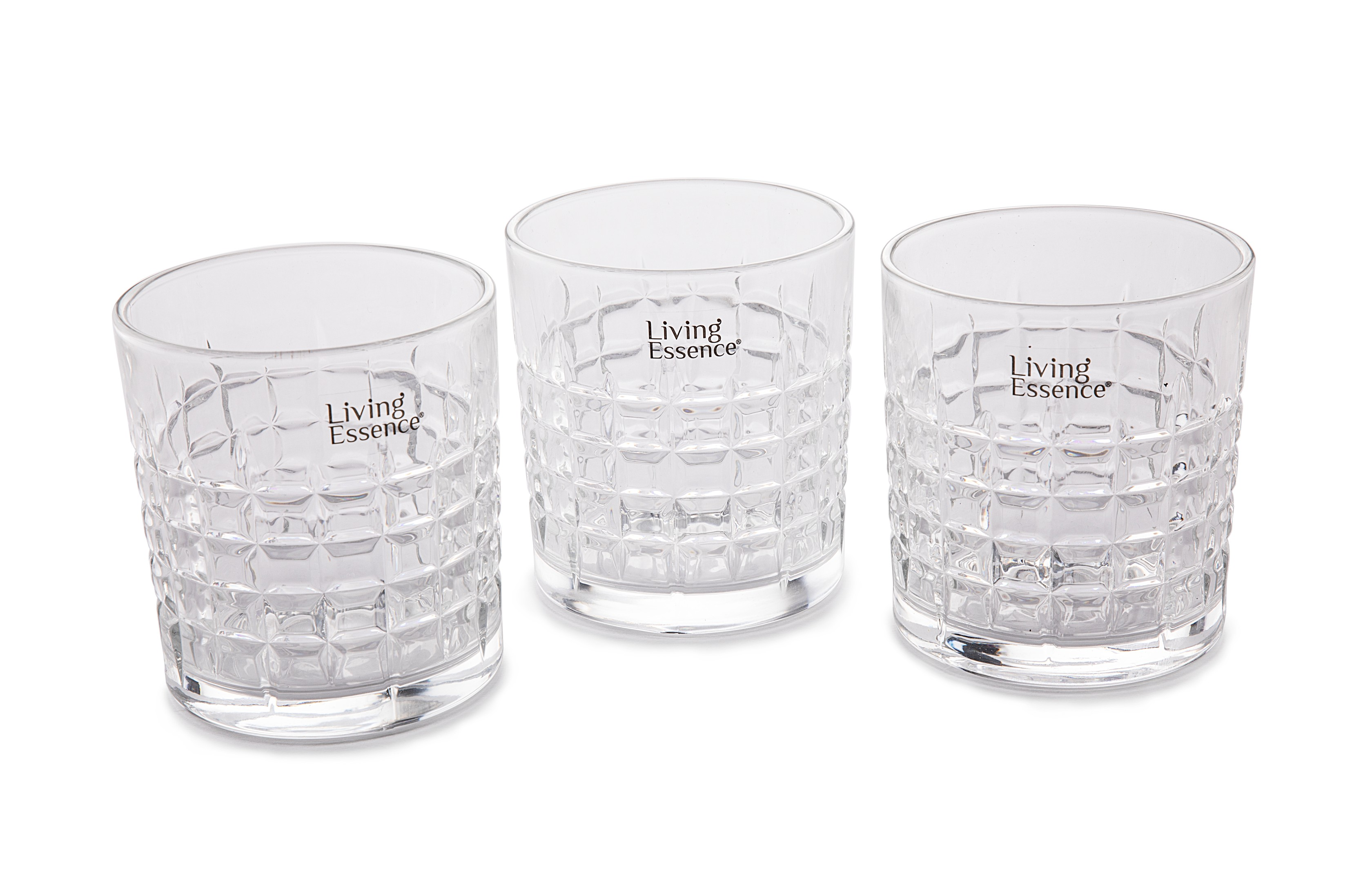 LE FLORENCE WHISKY TUMBLERS SET OF 6 Glass Glasses & Tumblers in Transparent Colour by Living Essence
