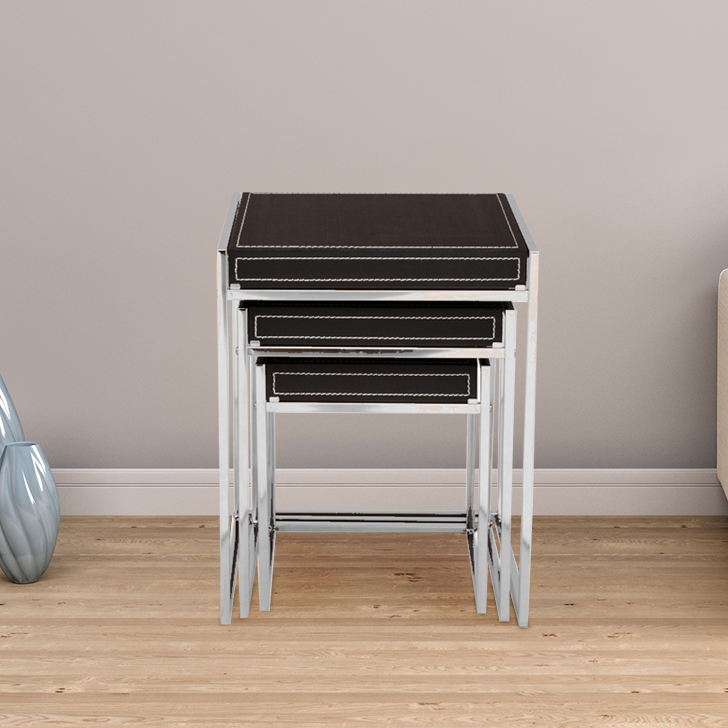 Maria Engineered Wood End Table in Black Colour by HomeTown