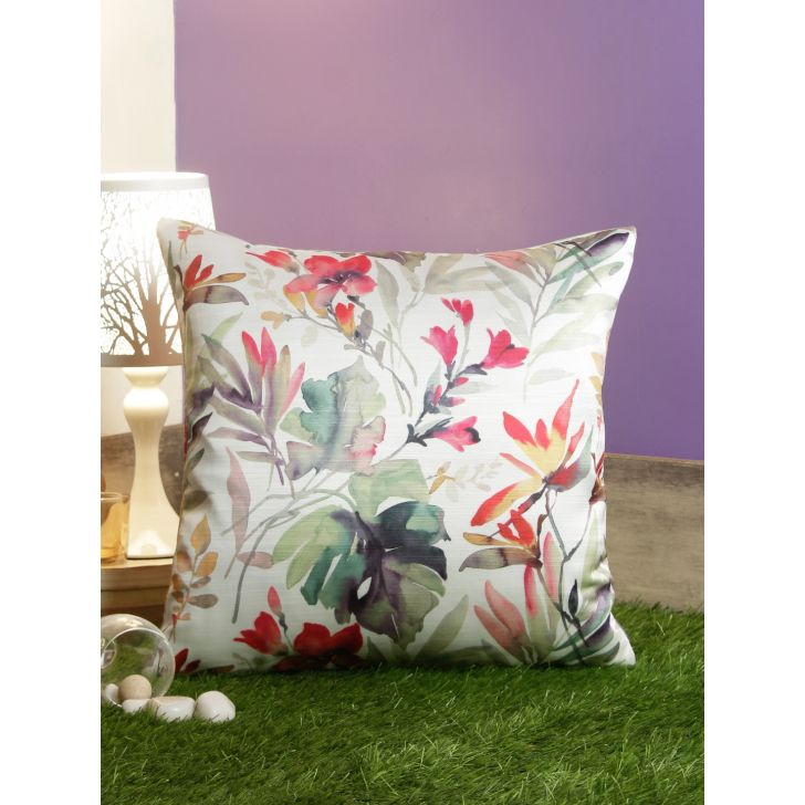 Digi Watercolor Pvc Cushion Covers in Multi Colour by Living Essence