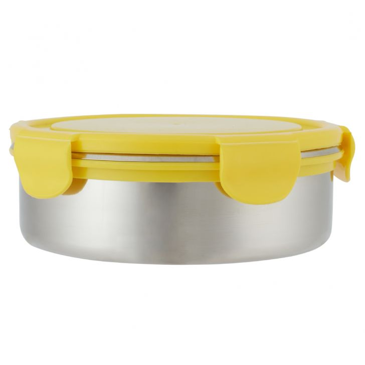 Carry Snack Pack 750Ml Stainless steel Containers in Silver Colour by Living Essence