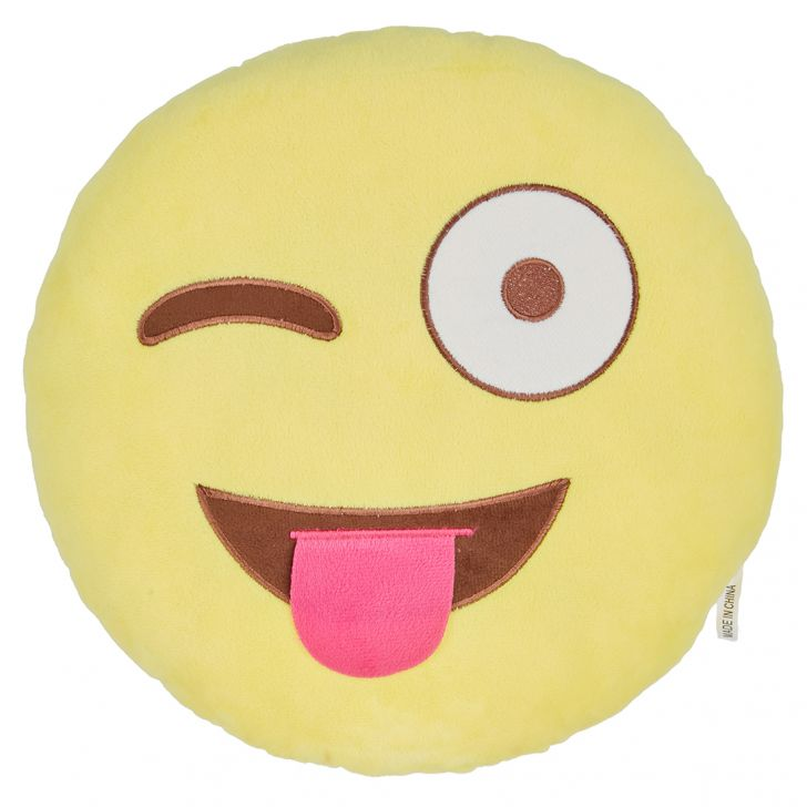Emoticon Filled Cushion Cotton Cushion Fillers in Cotton Colour by Living Essence