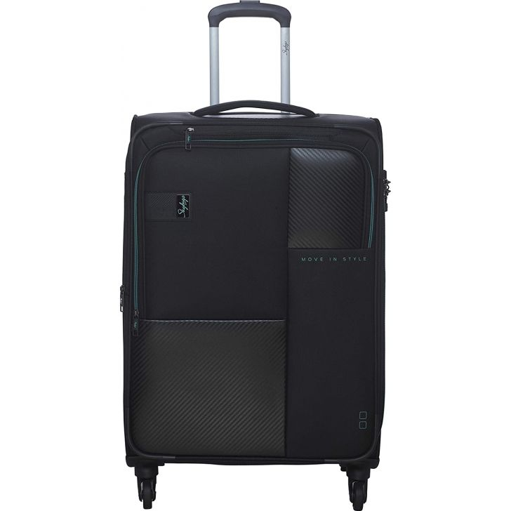 Cardinal 81 cm Polyester Soft Trolley in Black Colour by SKYBAGS