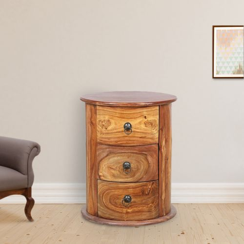 Buy Flint Solid Wood Chest Of Darwer In Honey Colour By Hometown