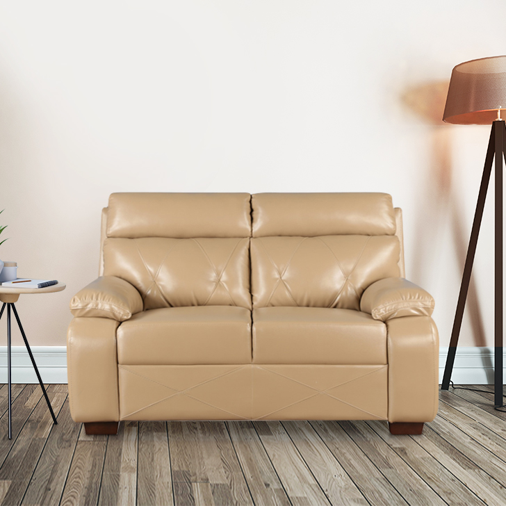 Adrian Two Seater Sofa in Butterscotch Colour by HomeTown