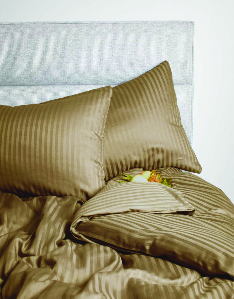 Amara Cotton Double Bed Sheets in Beige Colour by Living Essence